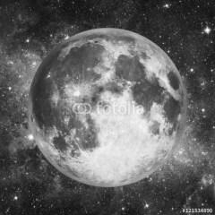 biało-czarny-księżyc-elegancki-obraz