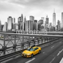 taksówka-i-most-brookliński-fototapeta