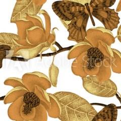 styl-vintage-natura-motyle-magnolie