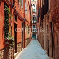 Stara ulica w Wenecji we Włoszech
