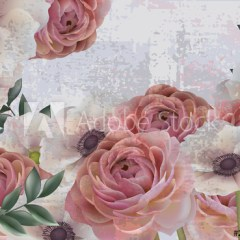 pastelowe-roze-vintage-dekoracja-scienna-fototapeta