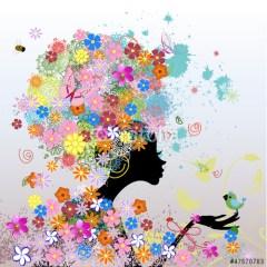 modna-dziewczyna-w-kwiatach-kolorowy-obraz