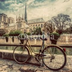 notre-dame-paryż-francja-uliczka-obraz-dekoracyjny