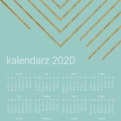 złote-dekoracje-kalendarze-jednoplanszowe-na-ścianę-2020
