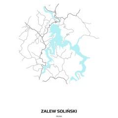biało-czarna-mapa-solina-w-kole-obrazy-z-mapami-miast