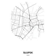 Mapa Słupska w kole