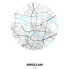 Mapa Wrocławia w kole