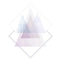 pastelowa-ilustracja-trójkąty-geometryczne-wzory-plakat