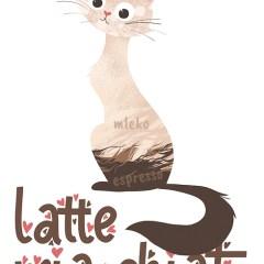 latte-kotek-ilustracja-plakat-w-ramie
