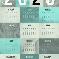 marmur-minimalizm-kalendarze-ścienny-2020