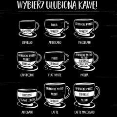 Ulubiona kawa na ciemnym tle