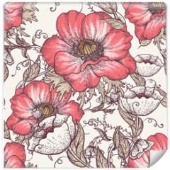 tapeta-kwiaty-vintage