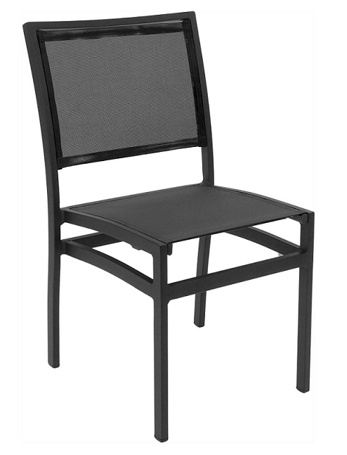 05 bistro seating mesh black black patio dining chairs