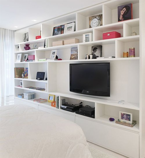 bedroom decorating with Television