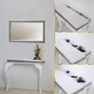Gümüş Varaklı Dresuar Ayna