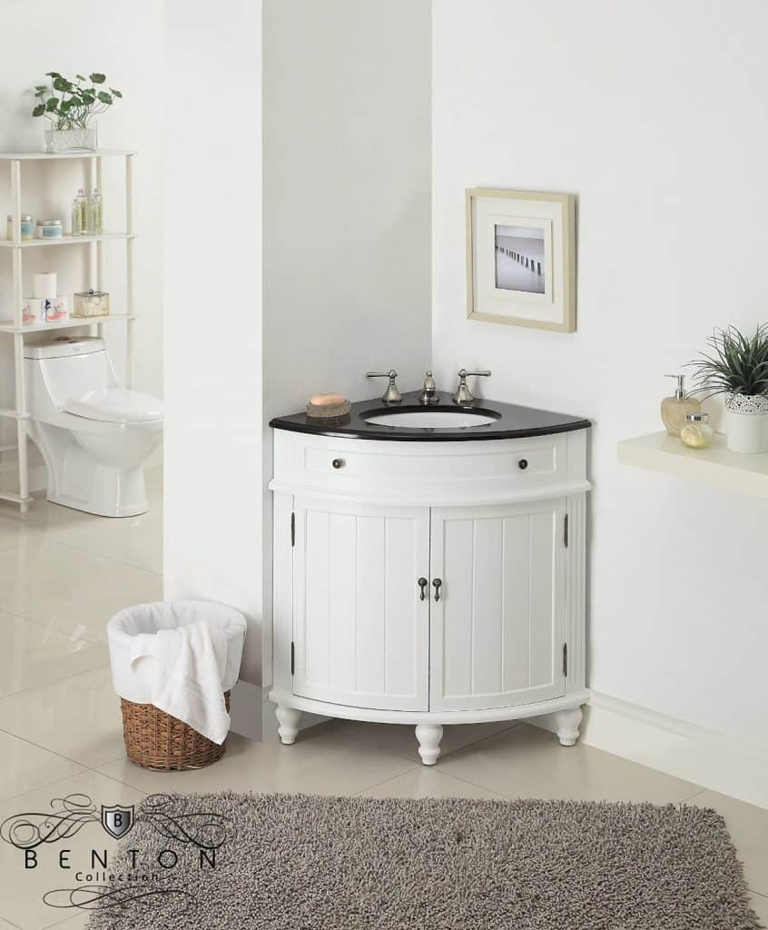 Very Cool Bathroom Vanity and Sink Ideas  Lots of Photos   24 Thomasville Corner Sink Bathroom Vanity Model CF 47533GT