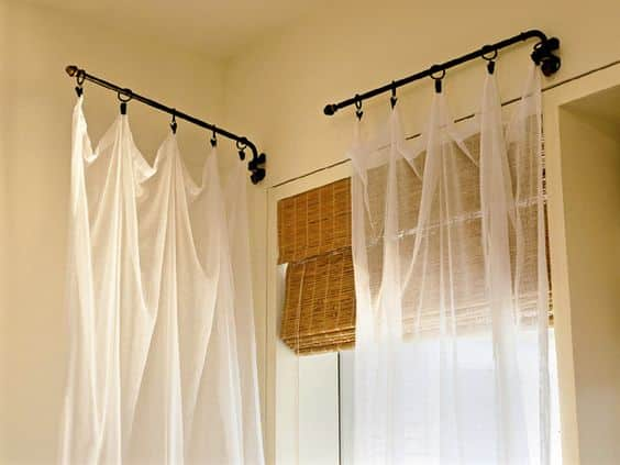 popular types of curtain rods