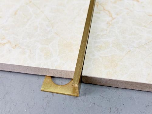 l shape brass tile trim yj b06 decortrim