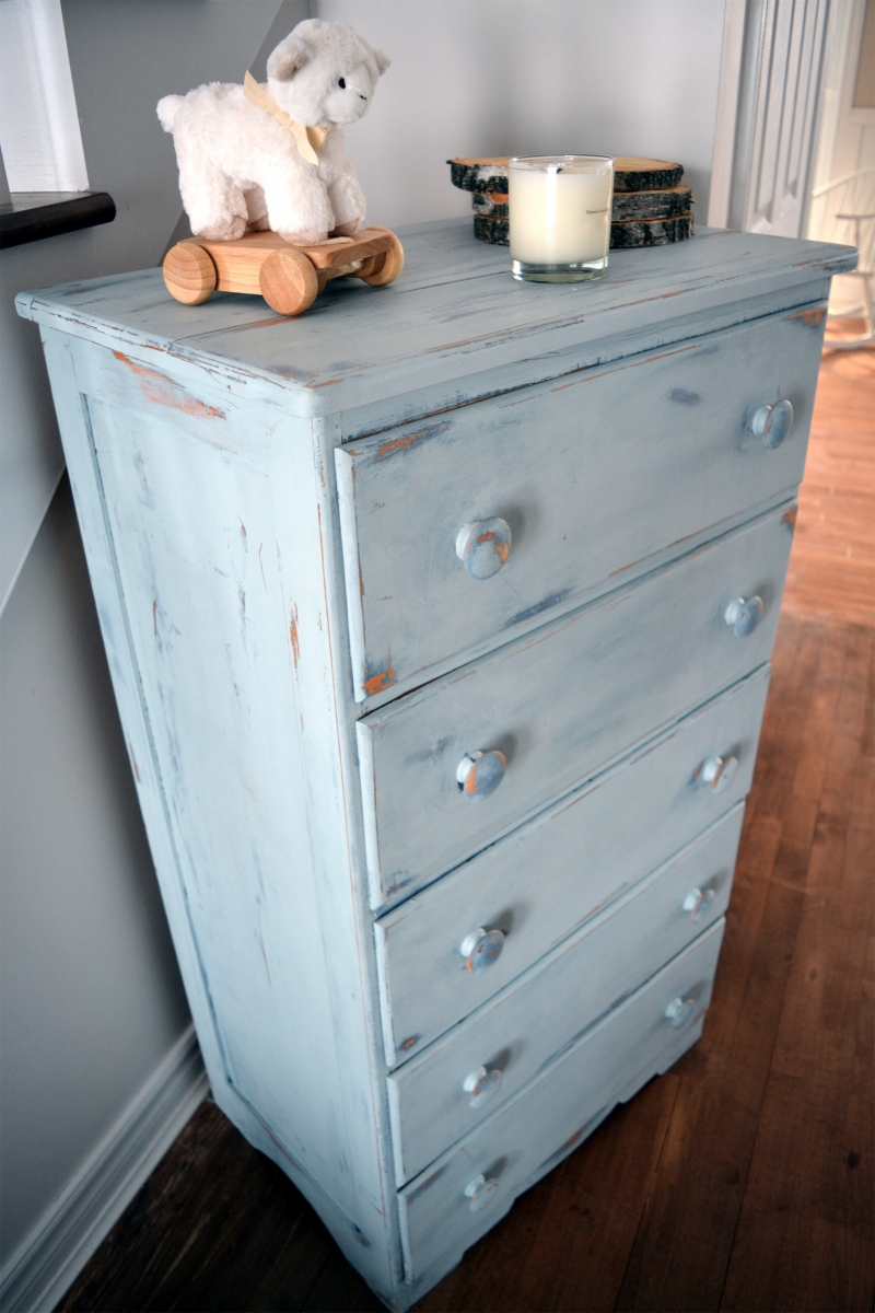 Set Of 2 Bedroom Rustic Shabby Chic Dressers