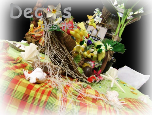 Dcorations De Buffet Antillais Aux Couleurs Du Madras Et