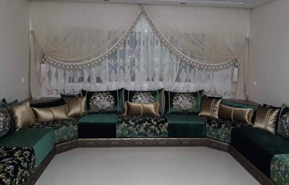 tlamet salon marocain 2020 tissu