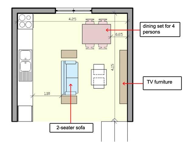 Small Kitchen Design Floor Plan