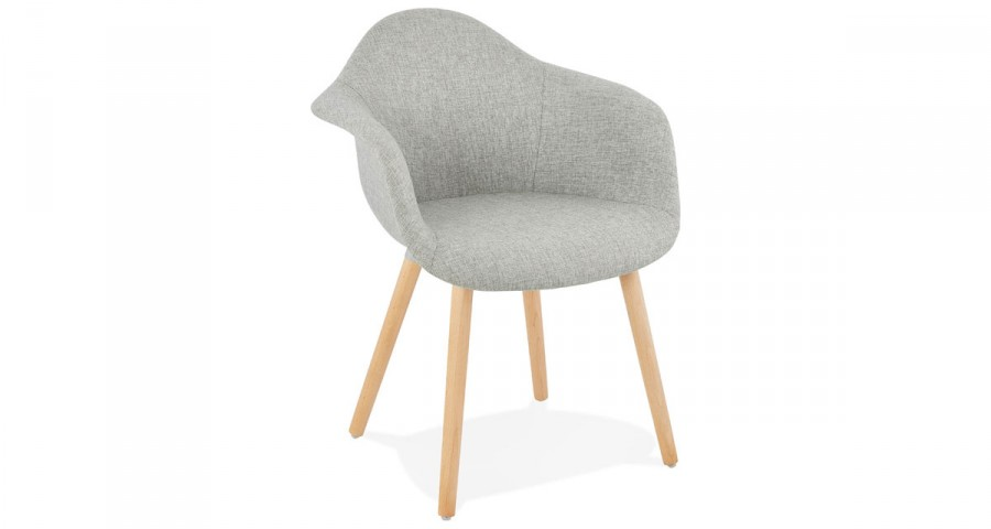 chaise scandinave grise barcelona