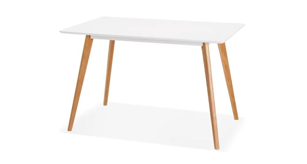 table scandinave 120 x 80 cm pieds chene massif lisa