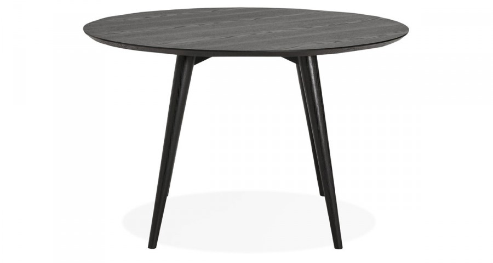 table ronde diametre 120 cm en bois noir valentine