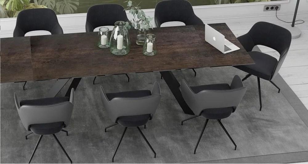 lot 2 chaises design fixes pivotantes washington