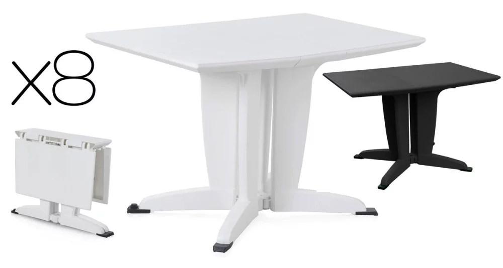table de jardin en plastique table d