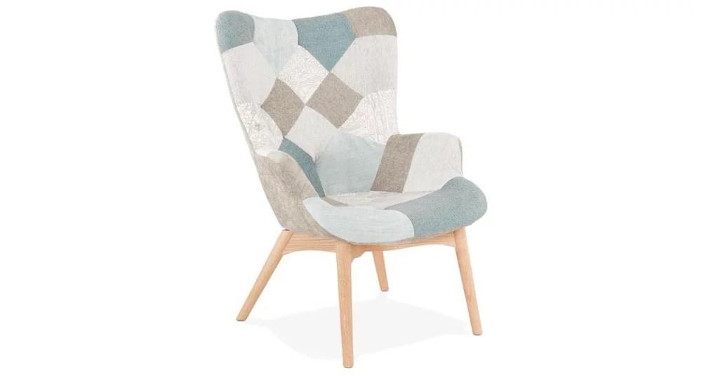 fauteuil haut tissu patchwork malungen