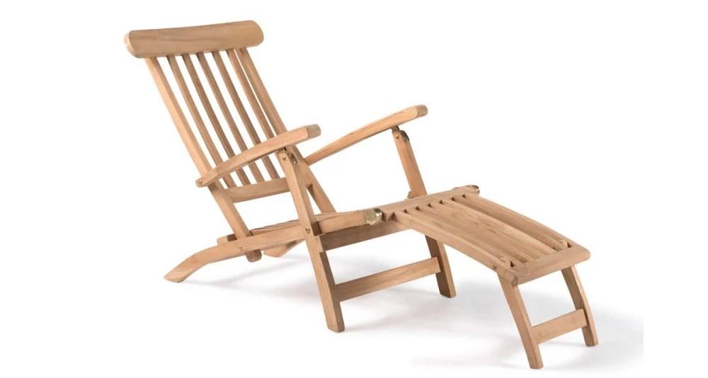 chaise longue pliante en teck siderno