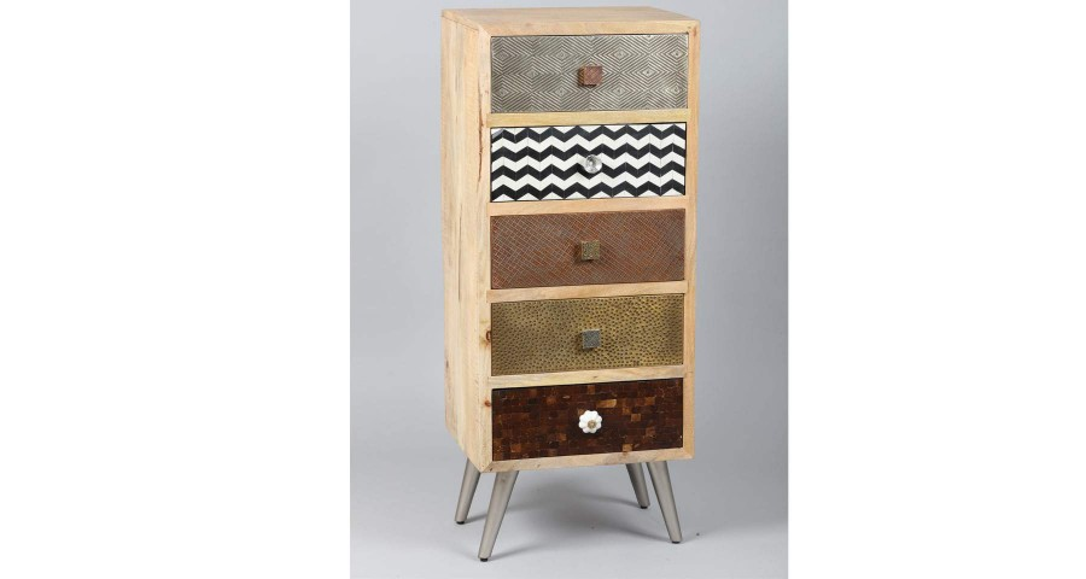 chiffonnier 5 tiroirs en bois pattaya