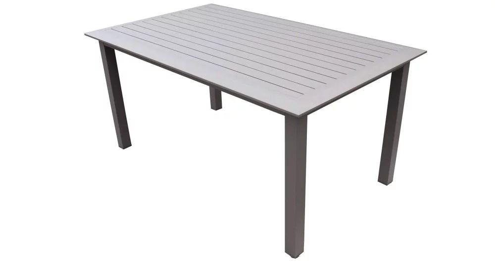 table de jardin en aluminium 6 personnes majunga