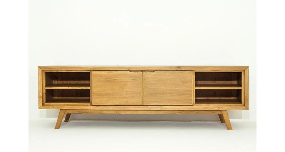 meuble tv en bois exotique massif savannah