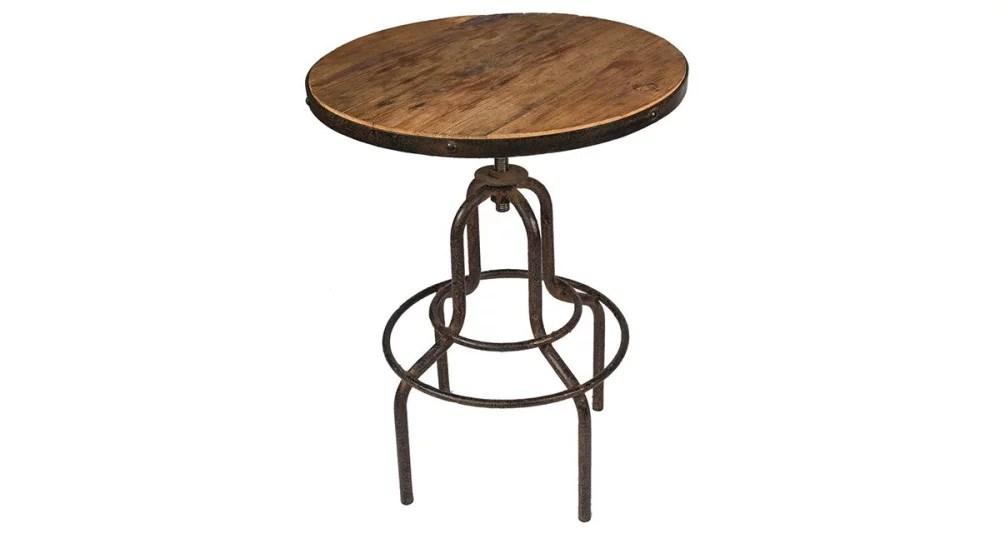 petite table de bar design industriel samussi