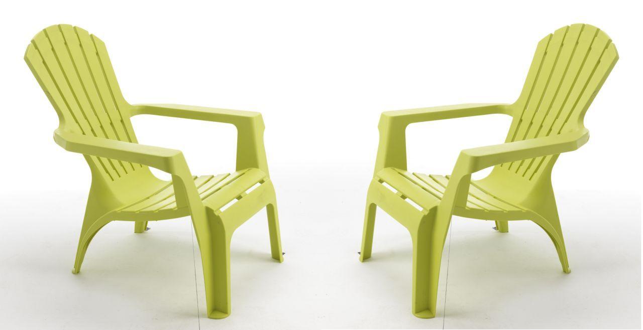 set de 4 fauteuils de jardin adirondack vert anis