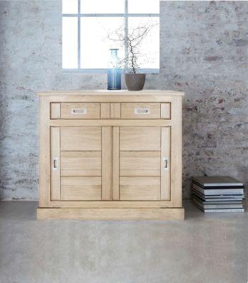 meuble d entree chene naturel sable 2 portes 2 tiroirs toronto