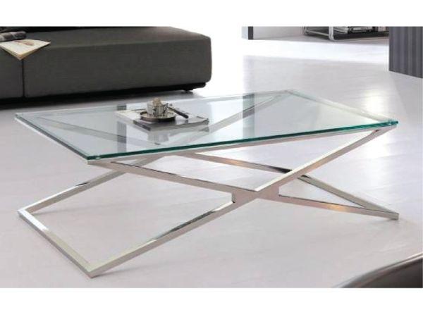 table basse contemporain pieds croises