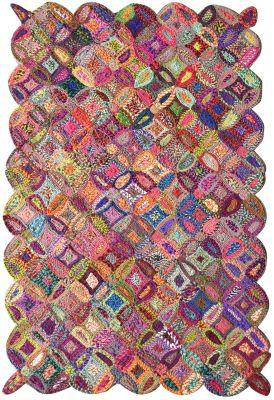 tapis cameo noue main coton recycle coloris multicolore 230x160