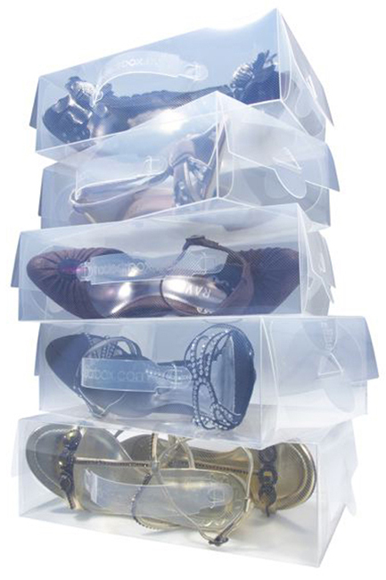 boîtes à chaussures transparentes