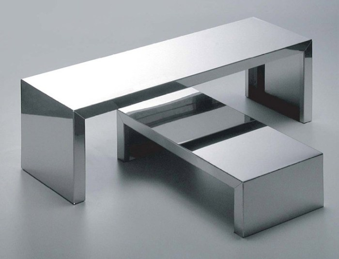 Tables basses originales - Small Inox de Maurizio Peregalli 1