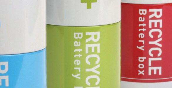 boîte à piles usagées