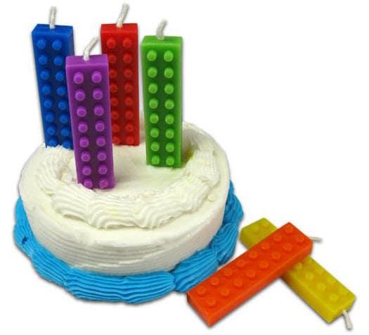 Déco Lego les bougies Lego