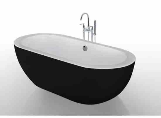baignoire noire