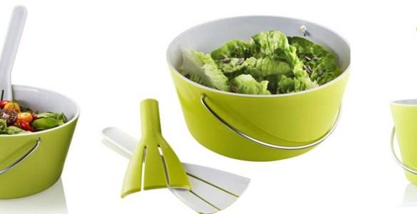 Saladier à anse couverts à salade Eva Solo