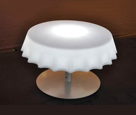 table basse capsule lumineuse Fizz Gianni Arnaudo