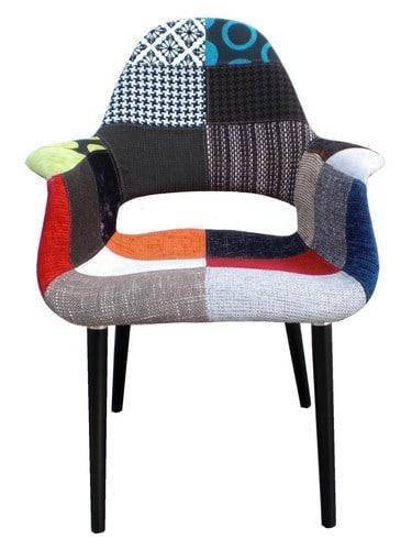 Fauteuils design - Le fauteuil Oslo Patchwork Sixties