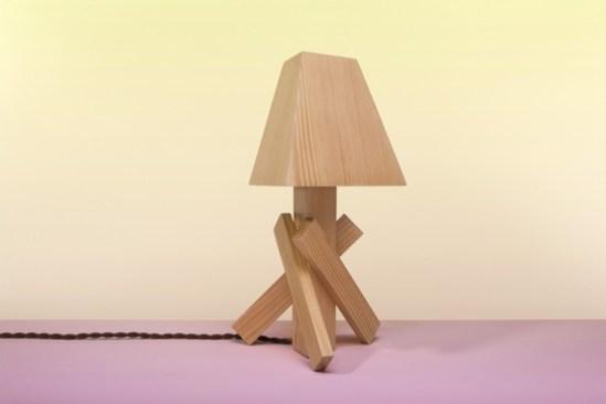 Shanty lampe bois Paul Loebach